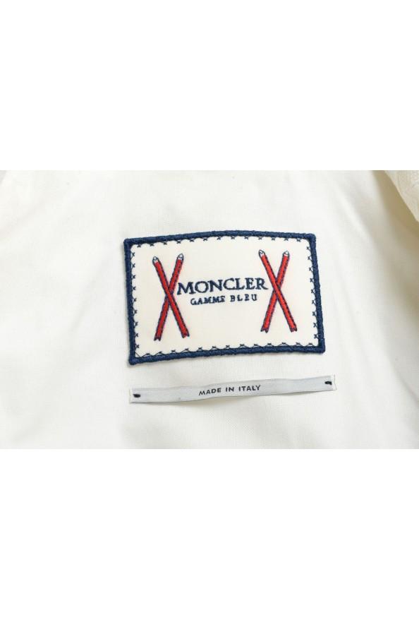 Moncler Women's White Silk Star Print Button Down Blazer: Picture 7