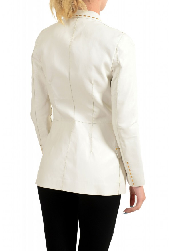 Just Cavalli Women's Ivory 100% Leather One Button Blazer : Picture 3