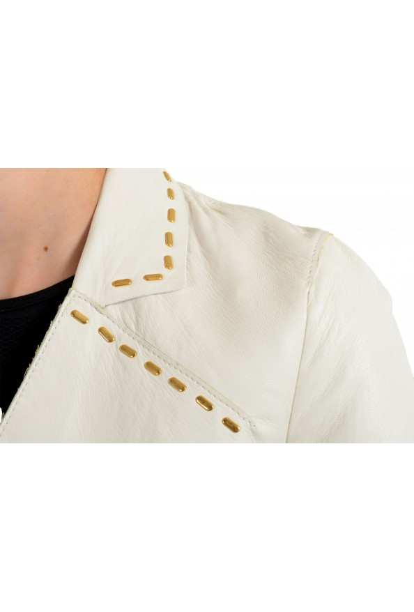 Just Cavalli Women's Ivory 100% Leather One Button Blazer : Picture 4