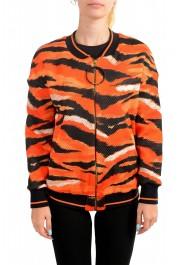 Just Cavalli Women's Multi-Color Animal Print Full Zip Jacket
