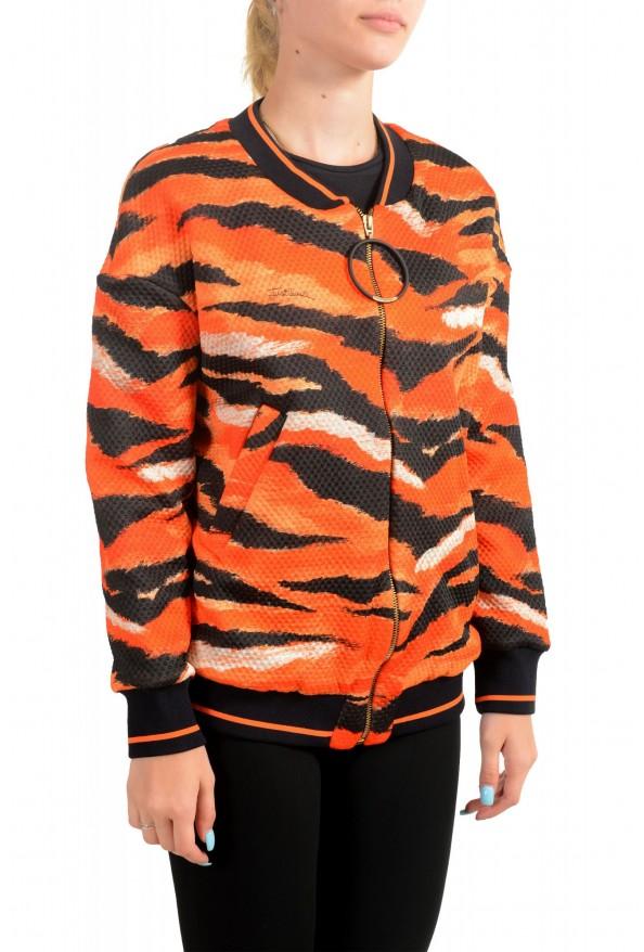 Just Cavalli Women's Multi-Color Animal Print Full Zip Jacket : Picture 2