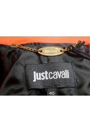 Just Cavalli Women's Bright Orange 100% Leather Bomber Jacket : Picture 5