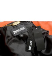 Just Cavalli Women's Bright Orange 100% Leather Bomber Jacket : Picture 6