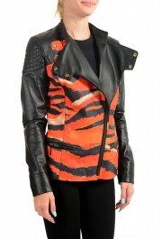 Just Cavalli Women's Multi-Color 100% Leather Bomber Jacket : Picture 2