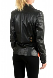Just Cavalli Women's Multi-Color 100% Leather Bomber Jacket : Picture 3