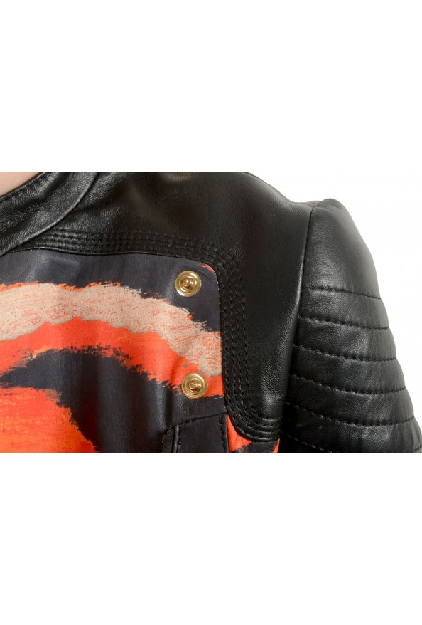 Just Cavalli Women's Multi-Color 100% Leather Bomber Jacket : Picture 4