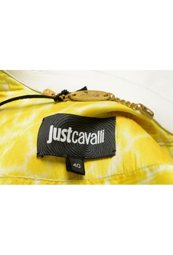 Just Cavalli Women's Ivory 100% Leather Zip Up Blazer Jacket : Picture 5