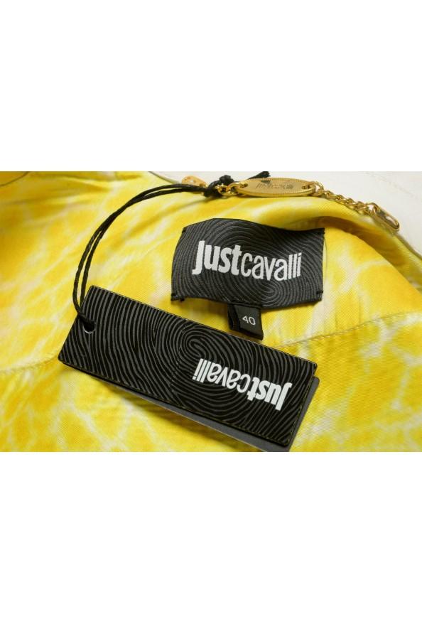 Just Cavalli Women's Ivory 100% Leather Zip Up Blazer Jacket : Picture 6