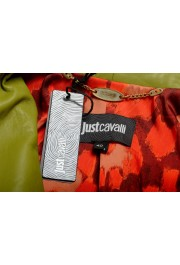 Just Cavalli Women's Olive Green 100% Leather Bomber Jacket : Picture 7