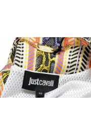 Just Cavalli Women's Multi-Color Striped Full Zip Bomber Jacket: Picture 5