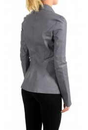 Just Cavalli Women's Gray 100% Leather One Button Blazer Jacket : Picture 3