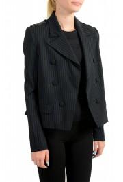 Just Cavalli Women's Black Wool Striped Buttonless Blazer Jacket : Picture 2