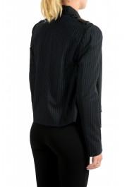 Just Cavalli Women's Black Wool Striped Buttonless Blazer Jacket : Picture 3