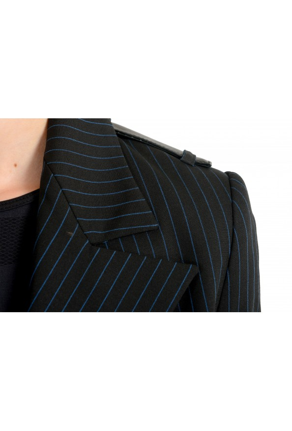 Just Cavalli Women's Black Wool Striped Buttonless Blazer Jacket : Picture 4