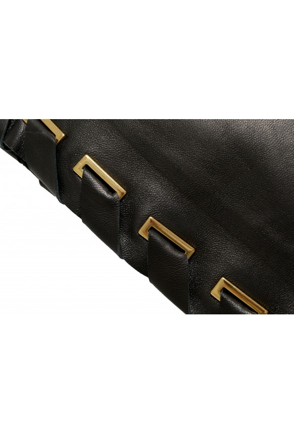 Just Cavalli Women's Black 100% Leather A-Line Mini Skirt : Picture 4