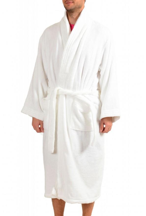 SFERRA Men's White Cotton Belted Bathrobe