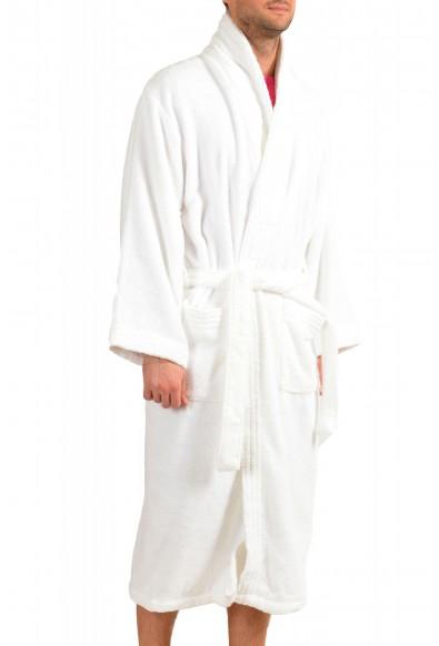 SFERRA Men's White Cotton Belted Bathrobe: Picture 2