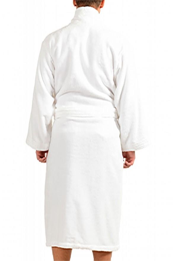 SFERRA Men's White Cotton Belted Bathrobe: Picture 3