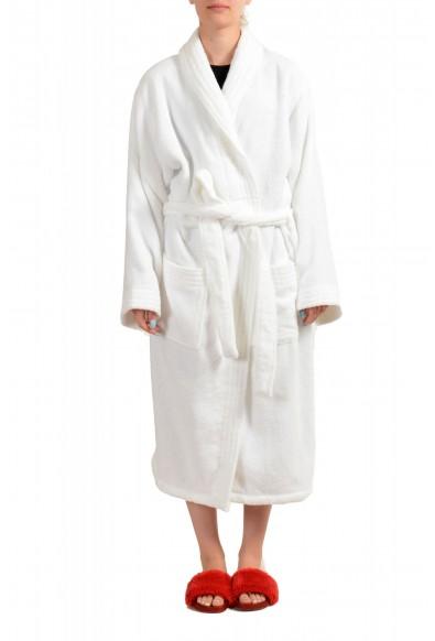 SFERRA Women's White Cotton Belted Bathrobe