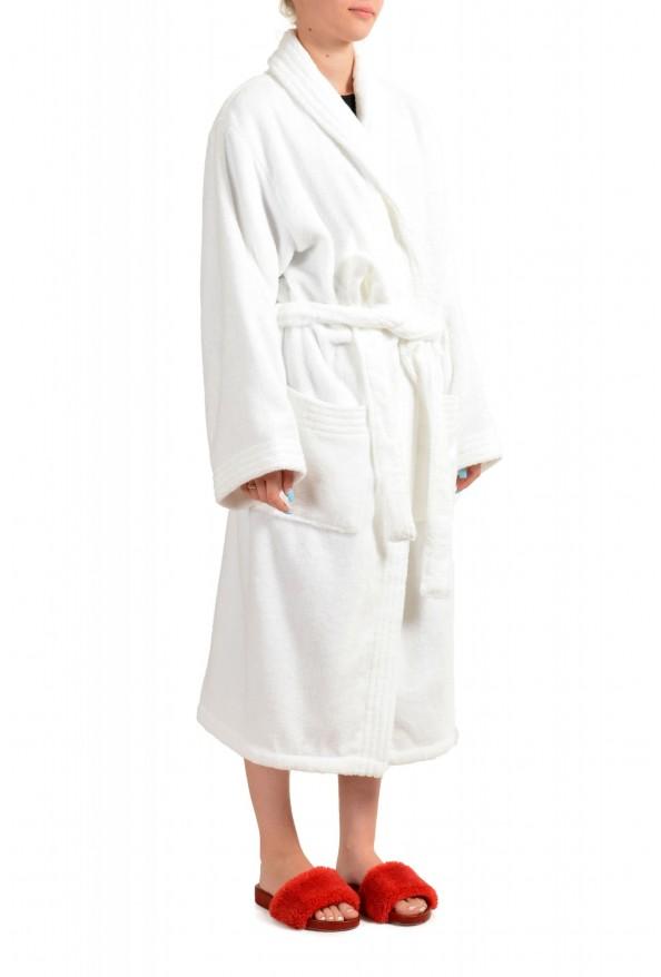 SFERRA Women's White Cotton Belted Bathrobe: Picture 2