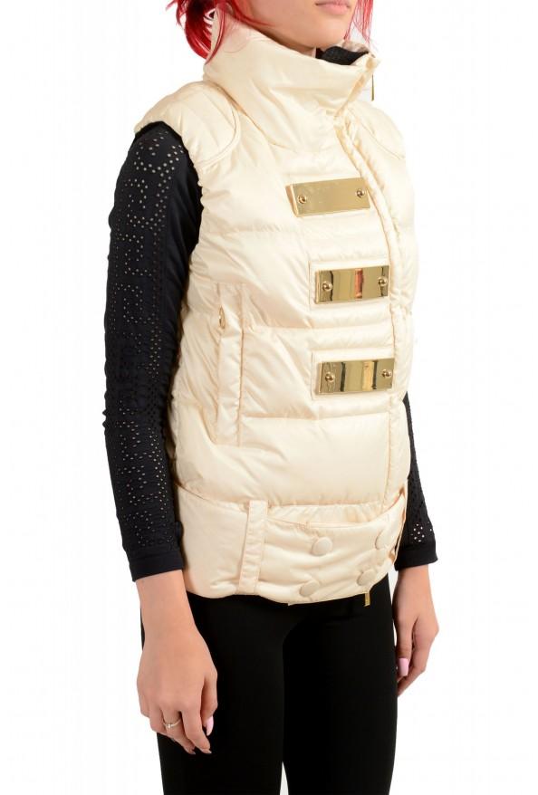 Just Cavalli Women's Ivory Down Lightweight Sleeveless Parka Vest : Picture 2