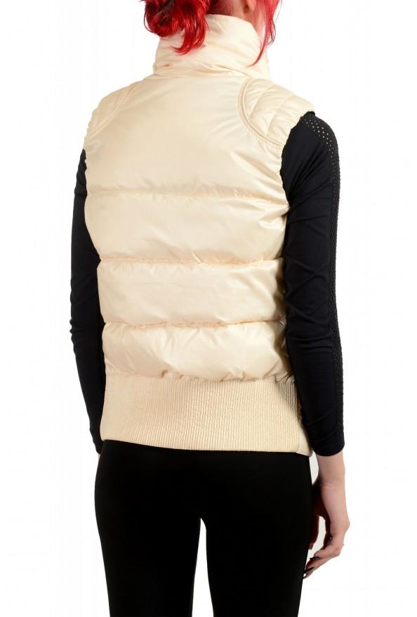 Just Cavalli Women's Ivory Down Lightweight Sleeveless Parka Vest : Picture 3