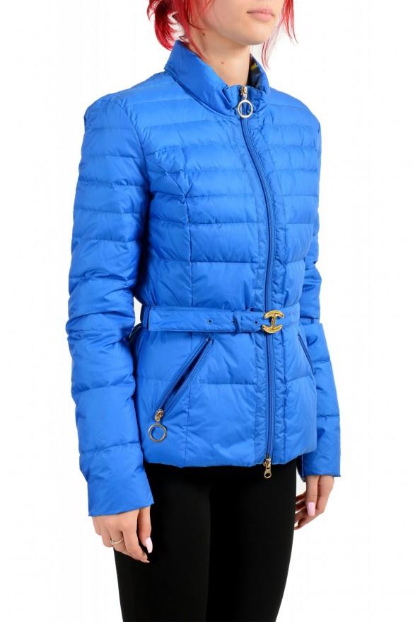 Just Cavalli Women's Royal Blue Down Lightweight Parka Jacket: Picture 2