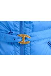 Just Cavalli Women's Royal Blue Down Lightweight Parka Jacket: Picture 5