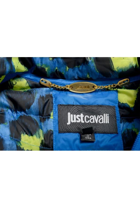 Just Cavalli Women's Royal Blue Down Lightweight Parka Jacket: Picture 6