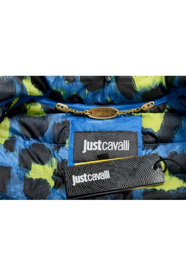 Just Cavalli Women's Royal Blue Down Lightweight Parka Jacket: Picture 7