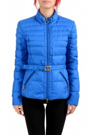 Just Cavalli Women's Royal Blue Down Lightweight Parka Jacket