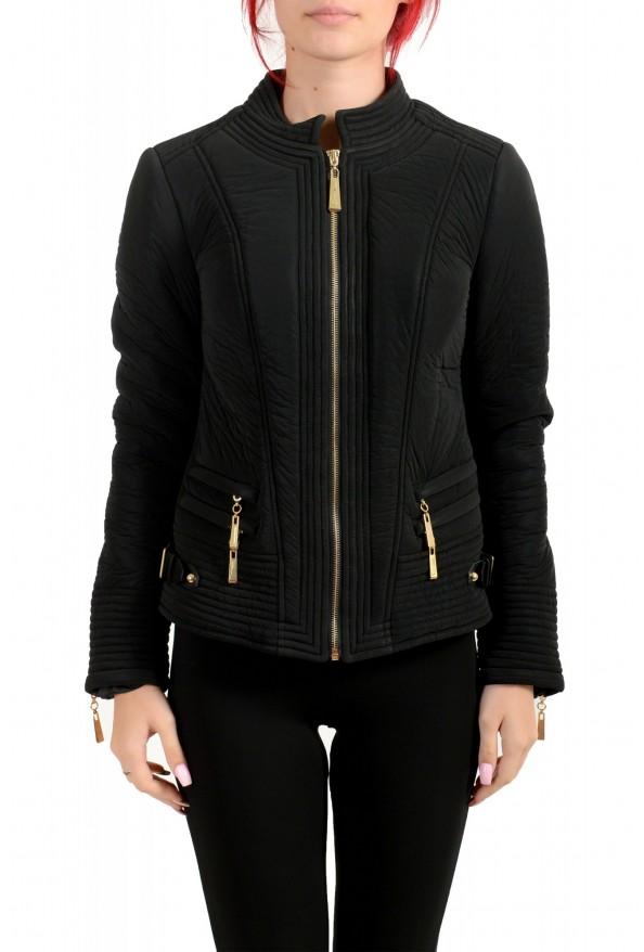Just Cavalli Women's Black Full Zip Lightweight Jacket