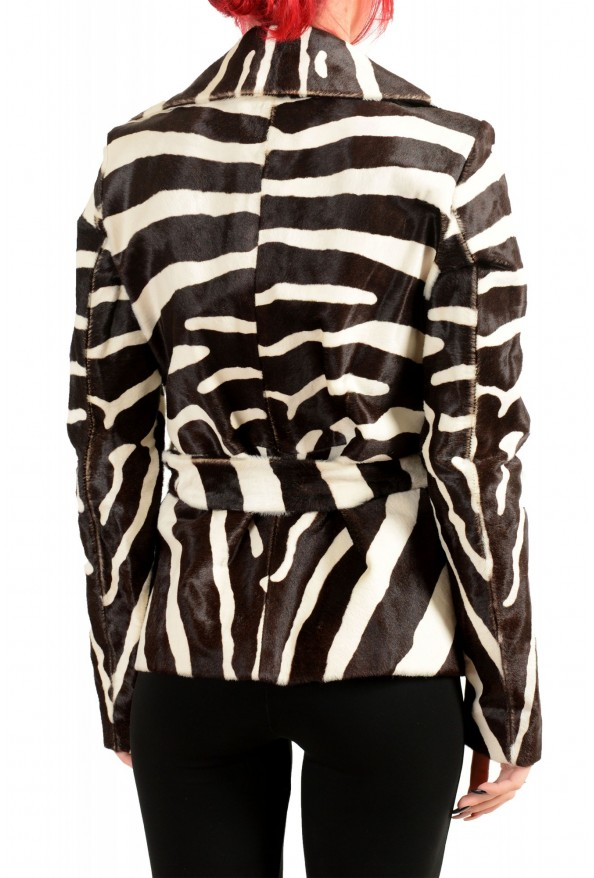 Dsquared2 Women's Multi-Color Pony Hair Leather Belted Coat Blazer : Picture 3