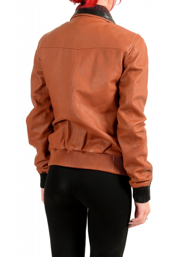 Just Cavalli Women's 100% Leather Full Zip Bomber Jacket : Picture 3