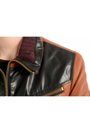 Just Cavalli Women's 100% Leather Full Zip Bomber Jacket : Picture 4