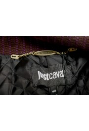 Just Cavalli Women's 100% Leather Full Zip Bomber Jacket : Picture 5