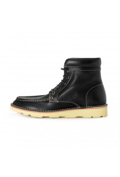 """Salvatore Ferragamo Men's """"SEVEN 2"""" Black Pebbled Leather Ankle Boots Shoes: Picture 2"""