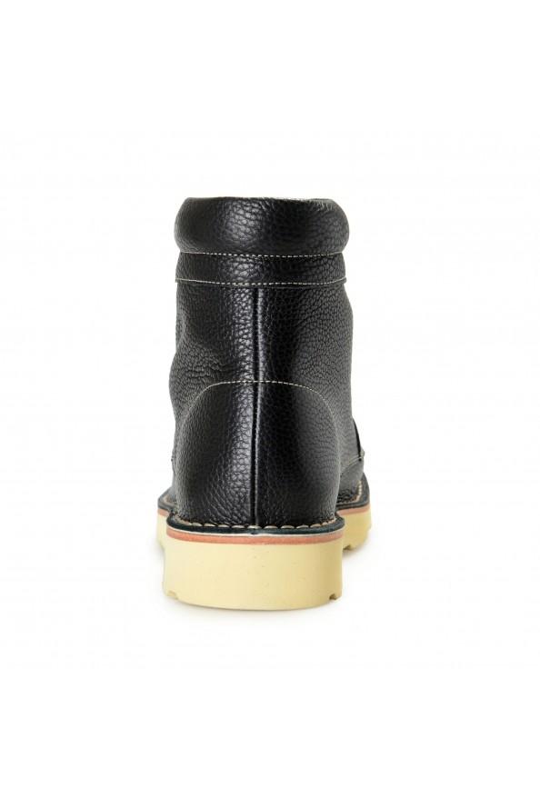 """Salvatore Ferragamo Men's """"SEVEN 2"""" Black Pebbled Leather Ankle Boots Shoes: Picture 3"""