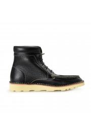 """Salvatore Ferragamo Men's """"SEVEN 2"""" Black Pebbled Leather Ankle Boots Shoes: Picture 4"""