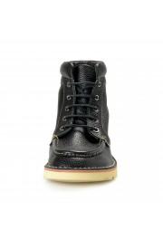 """Salvatore Ferragamo Men's """"SEVEN 2"""" Black Pebbled Leather Ankle Boots Shoes: Picture 5"""