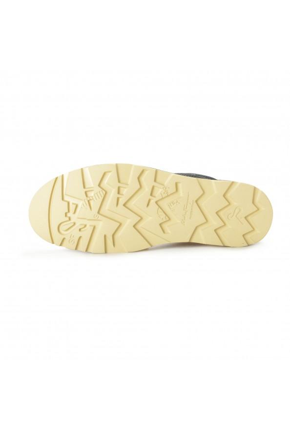 """Salvatore Ferragamo Men's """"SEVEN 2"""" Black Pebbled Leather Ankle Boots Shoes: Picture 6"""
