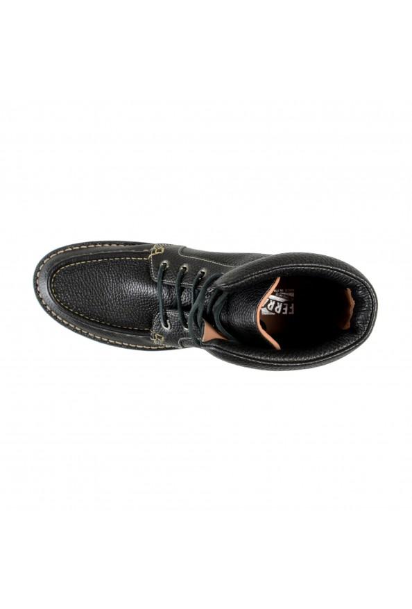 """Salvatore Ferragamo Men's """"SEVEN 2"""" Black Pebbled Leather Ankle Boots Shoes: Picture 7"""