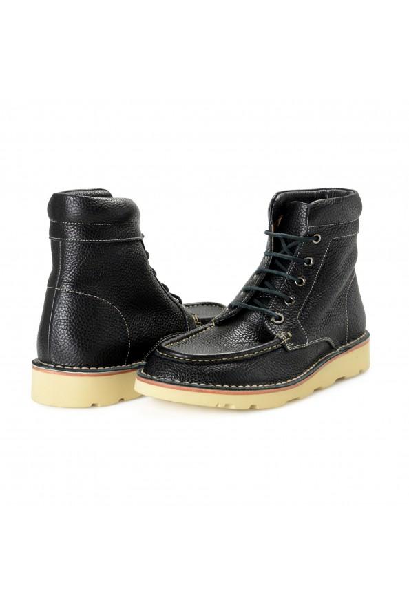 """Salvatore Ferragamo Men's """"SEVEN 2"""" Black Pebbled Leather Ankle Boots Shoes: Picture 8"""