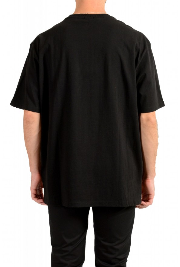 """Hugo Boss Men's """"Tempo2"""" Black Relaxed Fit Graphic Crewneck T-Shirt : Picture 3"""