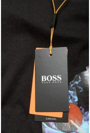 """Hugo Boss Men's """"Tempo2"""" Black Relaxed Fit Graphic Crewneck T-Shirt : Picture 5"""