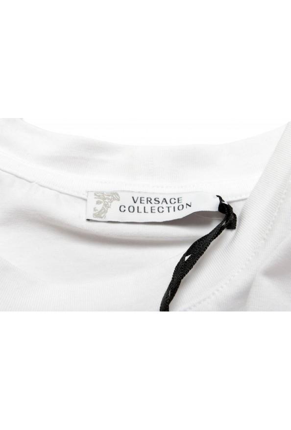 Versace Collection Men's White Graphic Crewneck T-Shirt : Picture 6