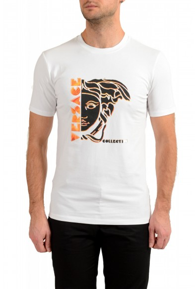 Versace Collection Men's White Graphic Crewneck T-Shirt