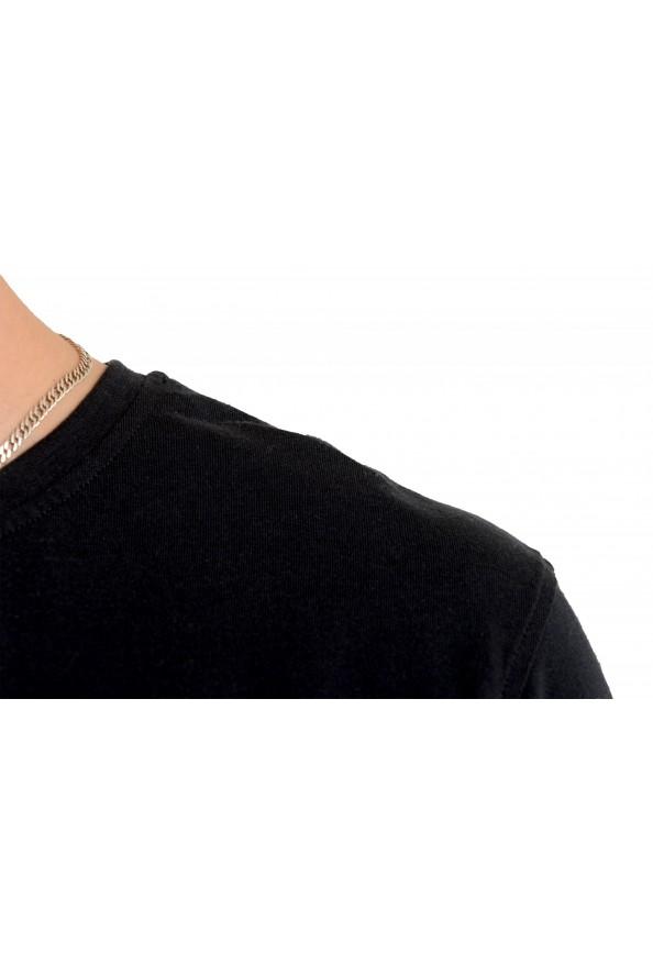 Roberto Cavalli Men's Black Graphic Print Crewneck T-Shirt: Picture 4