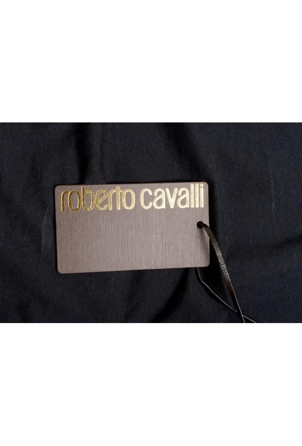 Roberto Cavalli Men's Black Graphic Print Crewneck T-Shirt: Picture 5