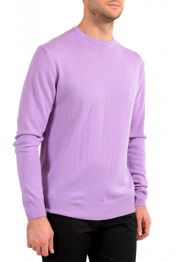 Versace Collection Men's Purple 100% Wool Crewneck Pullover Sweater: Picture 2